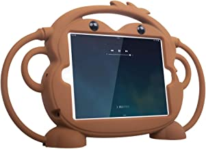 iPad Mini 1/2/3/4/5 Kids Case - CHINFAI Shockproof Handle Stand Silicone Protective Cover for Apple 7.9 inch iPad Mini 1st 2nd 3rd 4th 5th Generation [Double-Faced Monkey Series]Brown