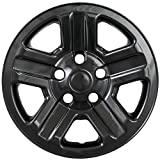Overdrive Brands Gloss Black 16' Hub Cap Wheel Skins for Jeep Wrangler - Set of 4