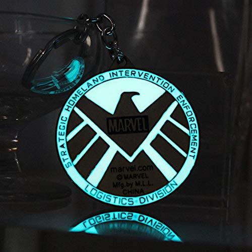 TUDUDU Glühende S.H.I.E.L.D. Auto Schlüsselanhänger Adler Schlüsselanhänger Frauen Männer Schlüsselanhänger Schlüsselanhänger Glow In Der Dark Mode Charme Schlüsselanhänger