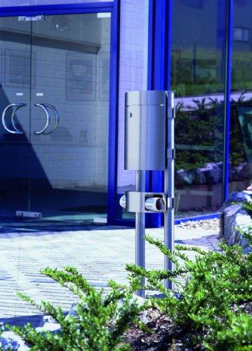 Albert 690765 Briefkasten, 38 x 17,5 x 110 cm, Edelstahl, silber
