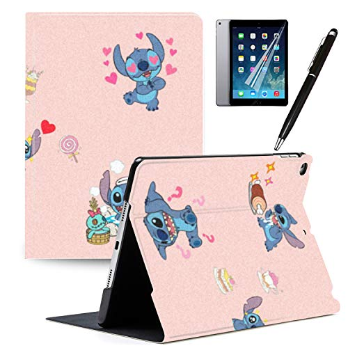 Y2PKZISTORE iPad 10.2 Inch 2019 (7th Generation) Case, Cartoon Lilo & Stitch Cartoon Protection Lightweight PU Leather Smart Auto Sleep/Wake Cover Also Fit for 10.2' iPad 7th Gen 2019#L