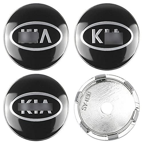 LADOG 4 tapacubos centrales de 60 mm para ruedas de coche K-Ia Sportage Rio Carens Cerato Forte Carnival Soul Optima Niro, de repuesto, emblema decorativo de llanta