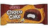 FIESTA Choco Cake Bizcocho esponjoso recubierto de chocolate con leche y relleno de crema de nata - Caja de 24 unidades