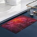 Tappetino da Bagno, Tappetini da Bagno in Microfibra,Spazio cosmico Cosmo Via Lattea Galassia astratto Stardust nel disegno ad acquer bagno lavabile in lavatrice Zerbino Tappetino da cucina 50x80 cm