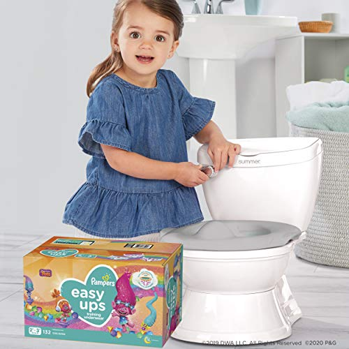 Potty Training Seat Starter Kit—My Size Potty Train & Transition and Pampers Easy Ups 2T-3T Potty Training Underwear for Girls and Boys, Size 4, 140 Count (Packaging May Vary)