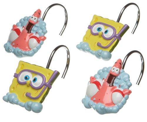 SpongeBob Squarepants Shower Curtain Hooks
