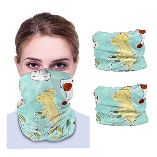 Dog Variety face Towel Multifunctional Headband Bandana Sport Snood Elastic Neck Gaiters UV Resistence Balaclava Tube for Running Cycling Outdoors