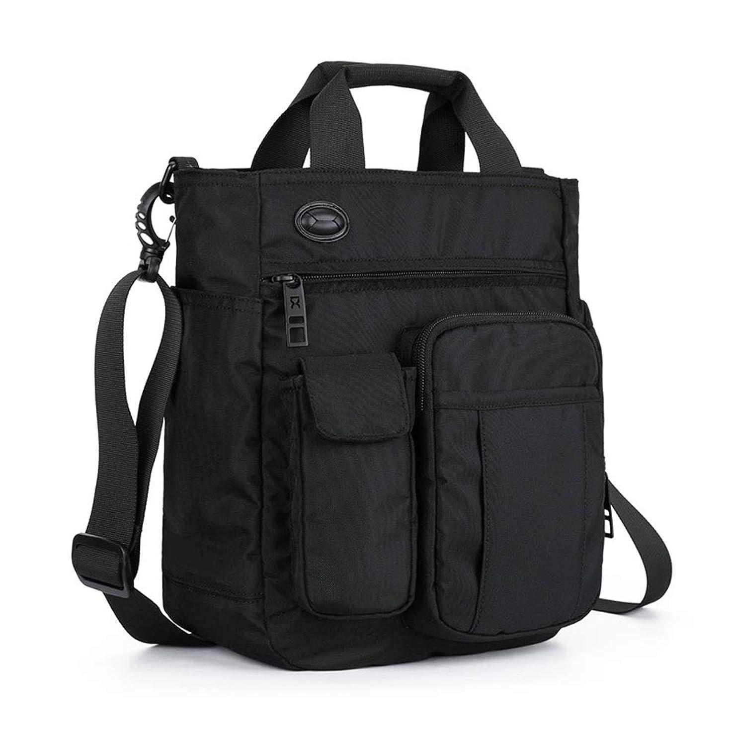NY-close Sling Shoulder Bag Headphone Jack Waterproof Multifunction Backpack Casual Chest Bag Hiking Backpack Lightweight Sport Hiking Camping Gym Backpack Men and Women (Color : Black)