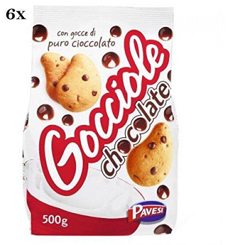 6x Pavesi Barilla Kekse Gocciole 500 g Italien biscuits cookies kuchen brioche