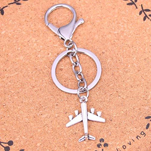 N/ A ZHTTCD Mode Zilver Kleur Legering Metalen Hanger vliegtuig Sleutelhanger Sleutelhanger Ring Gift Voor Auto Sleutelhanger Accessoire