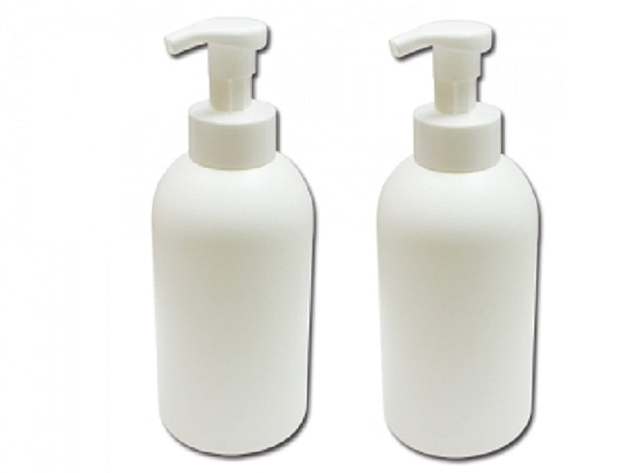 異常拍手食物泡立てポンプボトル800ml 泡で出てくる詰め替え容器泡立ちソープディスペンサー 液体石鹸、シャンプーボディーソープの詰め替えに 泡フォームポンプ容器 液体せっけん等の小分けに[2個セット]