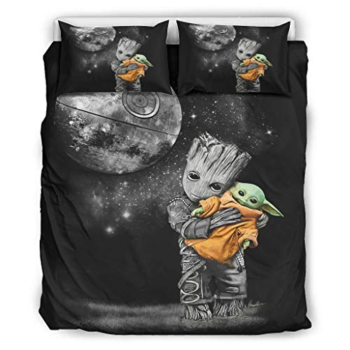 WellWellWell Baby Groot - Juego de ropa de cama con diseño de...