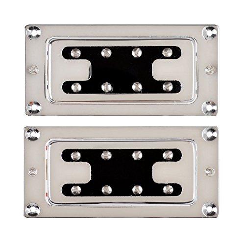 LYWS Chrome Humbucker Bridge Neck Set Pickups for Rickenbacker Bass Guitar Parts C4