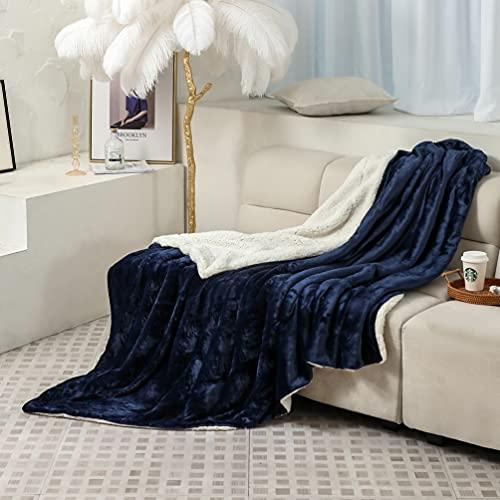 Couvertures de fourrure artificielle de luxe Couvertures à poils longs Super chaud et élégant Couvertures décoratives moelleuses utilisées pour les canapés et les...