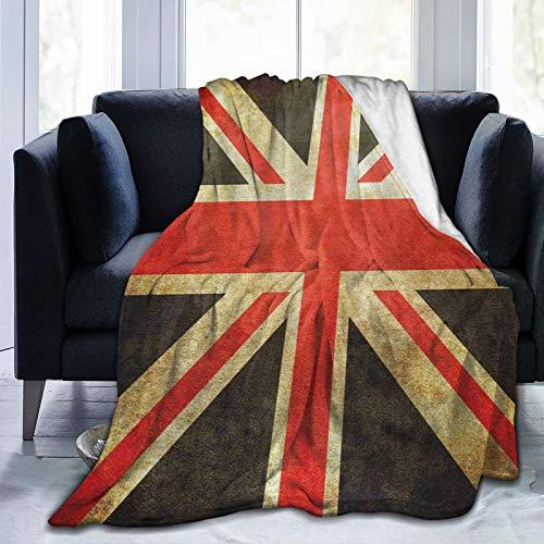 Olverz Manta de sherpa de la bandera del Reino Unido, ligera, súper suave, acogedora manta de sofá de lujo para sofá, interior y exterior, 150 x 100 cm