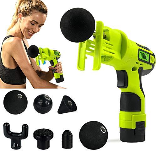 Muskelmassage Elektrische Massagepistole, Handmassagegerät mit tiefem Gewebe Muskelmassagegerät, Schnurlose Muskelstimulation Vibrationsgerät, Körper Entspannen Muskeln