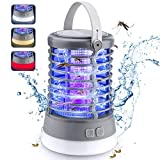 Rechargeable Camping Bug Zapper Outdoor & 3 LED Camping Lanterns & Flashlight 3-in-1, Amufer IP66 Waterproof Portable Tent Light with 50H Batteries for Outdoor Fly Trap, with SOS Emergency Light