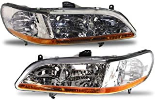 Headlight Lens and Housing Compatible with 2001-2002 Honda Accord Passenger and Driver Side