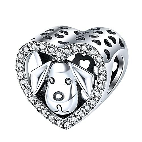 925 Argento Pandora Dog Story Barboncino Cucciolo Bulldog Francese Perline Braccialetto Originale Gioielli Di Lusso Da Donna