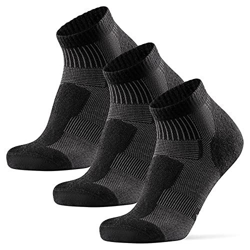 DANISH ENDURANCE Hiking Low-Cut Socks, 3 Pack (Negro, 35-38)