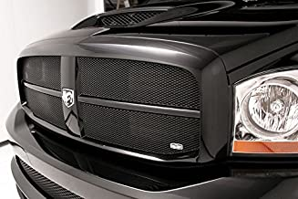 Grillcraft DOD1007B MX Series Black Upper 4pc Mesh Grill Grille Insert for Dodge Ram