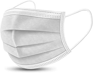 Giant Whale Medical 50pcs Disposable Medical Surgical White Face Mask With Three Layer Protection and Skin Friendly Non Wo...