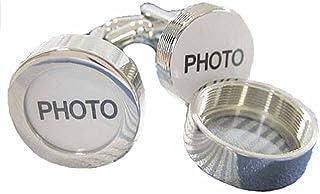 korpikus® Novelty Argent Brillant Couleur Acier inoxydable photo Boutons de manchette des hommes dans un sac-cadeau gratuite