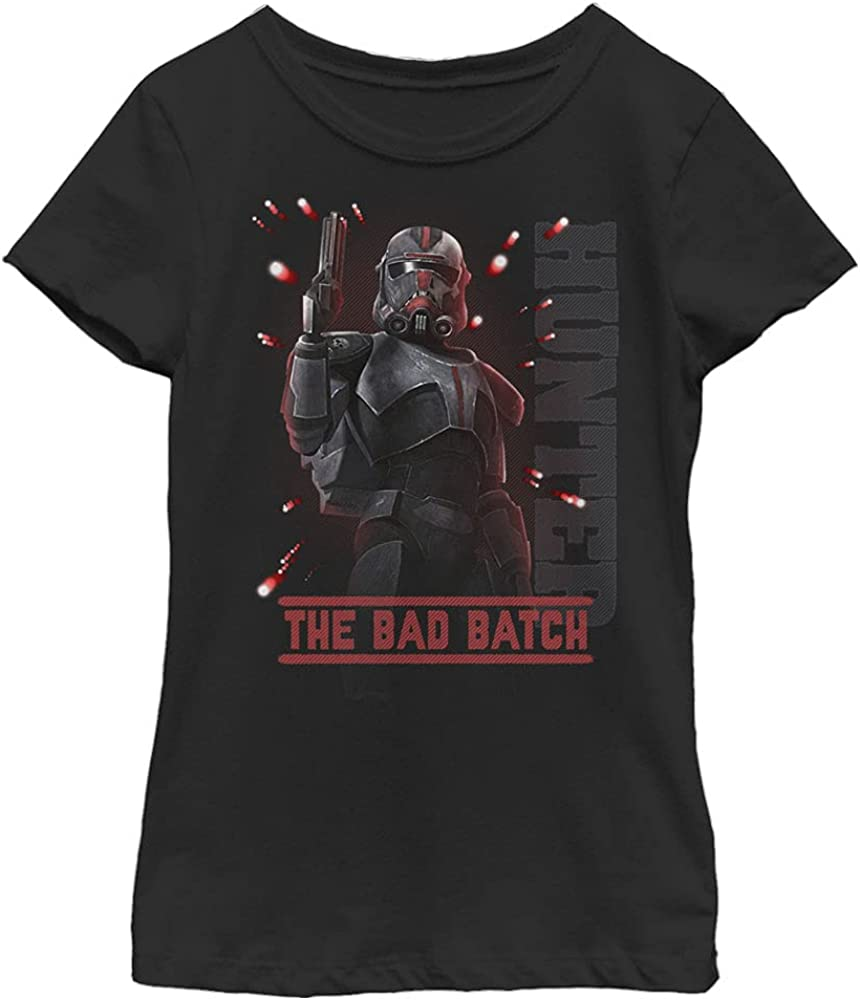 STAR WARS Bad Hunter Batch Girl's Solid Crew Tee