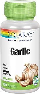 Solaray Garlic Bulb 500 mg | Healthy Immune, Circulatory & Cardiovascular Systems Support | Vegan, Non-GMO | 100 VegCaps