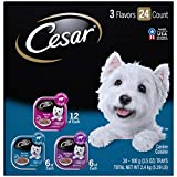 CESAR Soft Wet Dog Food Filets in Gravy Filet Mignon, New York Strip, and Prime Rib Flavors Variety Pack (24) 3.5 oz. Easy Peel Trays