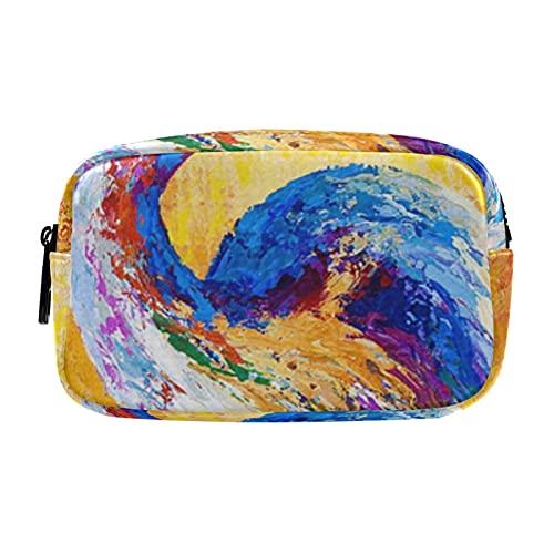 Estuche portátil multifunción Estuche cosmético Steady Gaze Gran Azul Heron Organizador Bolsa de viaje Bolsa de maquillaje