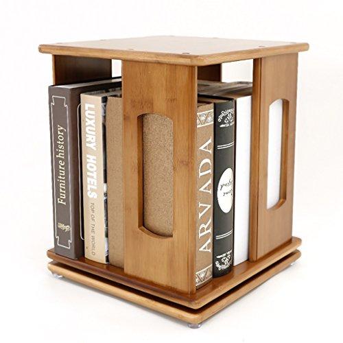 Armoires, modules et étagères Étagère de bureau en rotation étagère moderne bureau minimaliste étagères en bois massif stockage étudiant bibliothèque en bambou