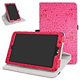T-Mobile for LG G Pad X2 8.0 Plus Rotating Case,Mama Mouth 360 Degree Rotary Stand with Cute Pattern Cover for LG G Pad X2 8.0 Plus V530 / Sprint G Pad F2 8.0 LK460 Tablet,Rose Red