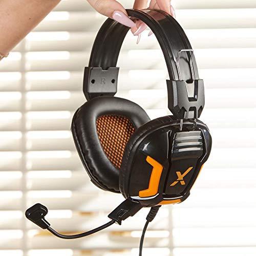 X Rocker, 5198001, XH1 Headset with Microphone, 9.45 x 8.66 x 3.74, Black/Orange
