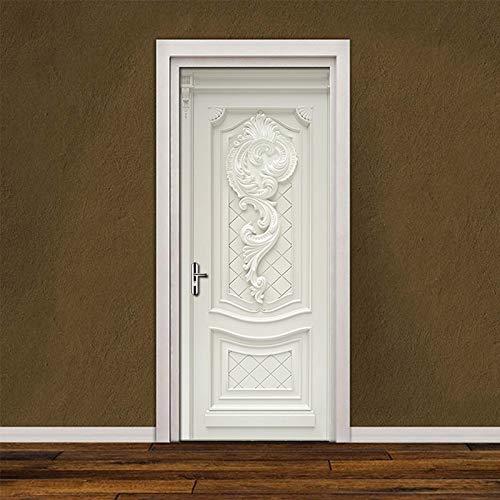 HXLFYM 3D-Türaufkleber PVC wasserdichte Selbstklebe-Aufkleber 3D Wallpaper for Wohnzimmer Schlafzimmer Türtapete Kunst Wandaufkleber Wandwandaufkleber (Sticker Size : 95x215cm)