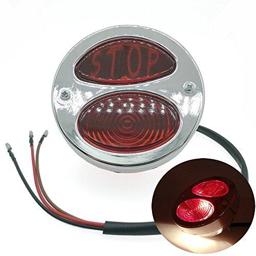 Heinmo Moto arrière licence support de lampe de queue de frein LED pour tout-terrain de frein pour moto Feu arrière