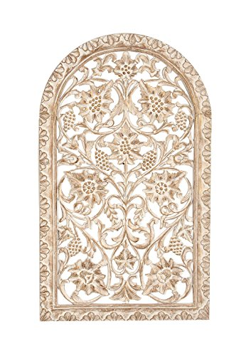 Deco 79 23793 Wooden Wall Panel, Light Brown