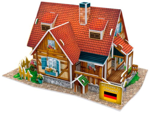 3D three-dimensional puzzle 3D World Style Series Country House W3128h (japan import)