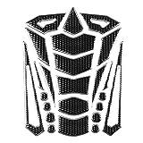 KIMISS 1pcs Protector universal de la almohadilla del tanque de la motocicleta, pegatina colorida del tanque del tanque de gas de goma (borde plateado)