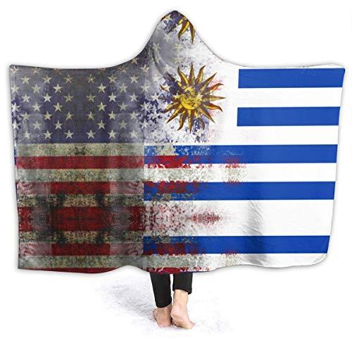AEMAPE Manta con Capucha de Bandera uruguaya Americana Retro