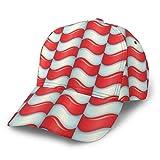 Gorras De Béisbol Ajustable Clásico Seis Panel Sólido Rojo Blanco Curva Papá Sombreros Para Hombres Mujeres