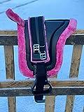 Equipride Bareback Riding Pad Pony Saddle with Stirrups and Girth Ice Pink (Cob)