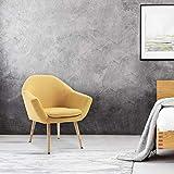 Mc Haus NAVIAN - Sillón Nórdico Escandinavo de color Mostaza, butaca comedor salón dormitorio, sillón acolchado con...