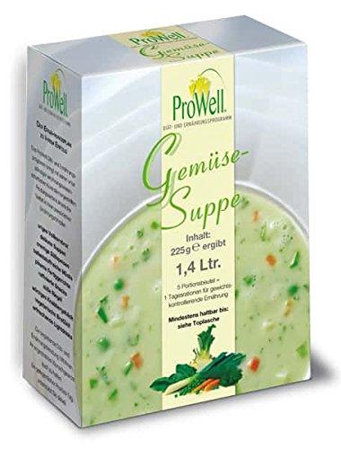ProWell Diät- und Ernährungsprogramm - Gemüsesuppe - 225 g (5 Portionen)