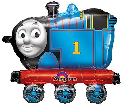 Anagram 2638601 - Party und Dekoration - Folienballon Air Walker - Thomas die kleine Lokomotive, circa 63 x 58 cm