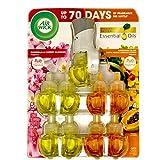 Airwick - Aceites aromáticos (1 calentador + 9 recambios) Proporciona hasta 60 días* de fragancia continua y de larga duración por relleno. Juego de 2 aromas.