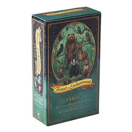 78 Tarotkarten, Forest of Enchantment Spielkarten Mit Bunter Schachtel Für Anfänger Brettspiel, Englische Ausgabe