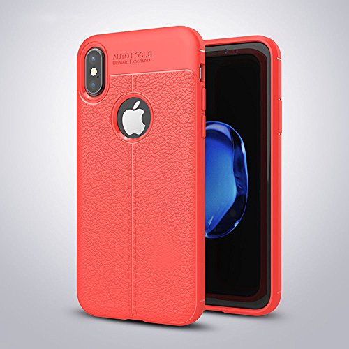 SHOPWAY Soft Silicone TPU Flexible Auto Focus Back Cover for Apple iPhone X (Black)