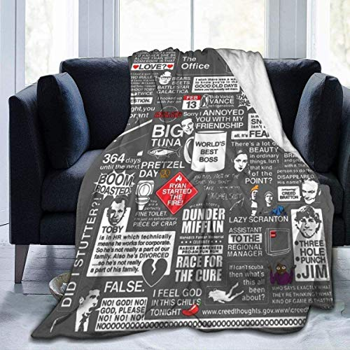 N/A 3D-Druck, ultraweiche Micro-Fleecedecke, weise Worte aus dem Büro, Decke für Zuhause, Bett, Sofa, Schlafsaal, 203,2 x 152,4 cm