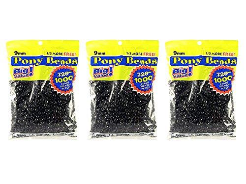 1000 black pony beads - 4